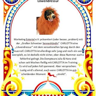 Seite 25 Löwendressur mit Hund Carlotta
