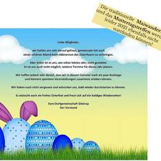 Plakat der Website Ostern 2021