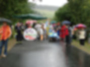 Dorfgemeinschaft Göstrup Bettenrennen Start