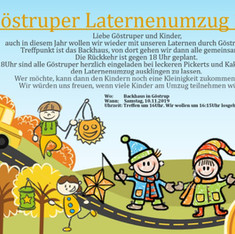 Plakat Laternenumzug 2019