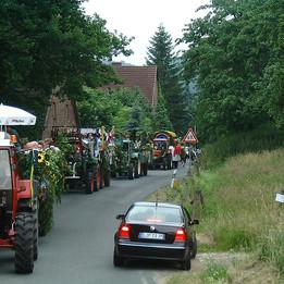 Dorffest 2003 Umzugsstau