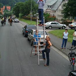 Dorfumzug 2003 Filmaufnahmen