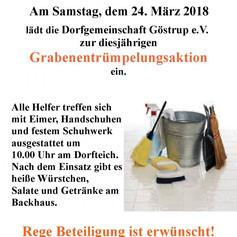 Einladung zum Dorfputz 2018
