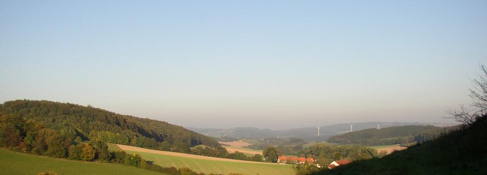 Blick vom Hexenberg Richtung Göstrup