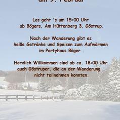 Plakat Winterwanderung 2019