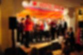 Die Bühne in der Napolibar 2014