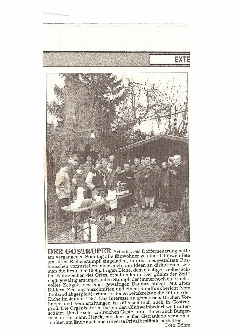 Dorfgemeinschaft Göstrup Glühweinstand