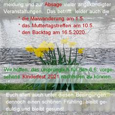 Info-Plakat Absagen