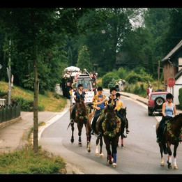 Dorffest 2003 Umzug zu Pferd