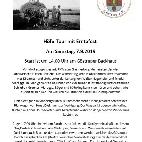 Flyer zur Höfe-Tour 2019