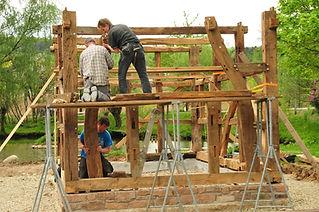 Fundament und Fachwerk