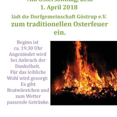 Einladung zum Osterfeuer 2018