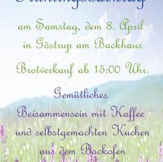 Einladung zum Frühlingsbacktag 2017