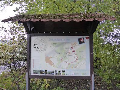 Dorfgemeinschaft Info-Tafel zum Gösselgang