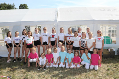 Die Tiny und Loony Jags der Cheerleader des TSV Bösingfeld
