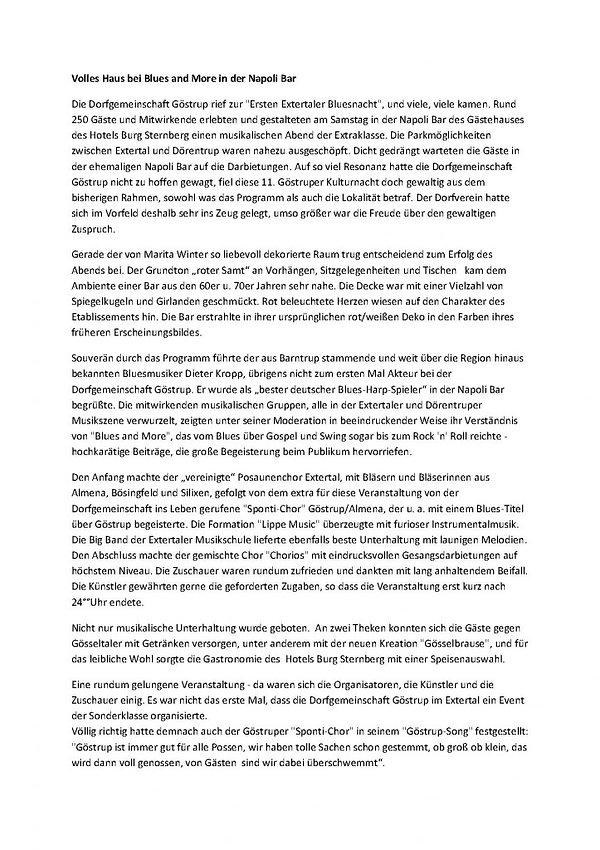 Dorfgemeinschaft Göstrup Presseartikel-Veranstaltung-Blues-and-more