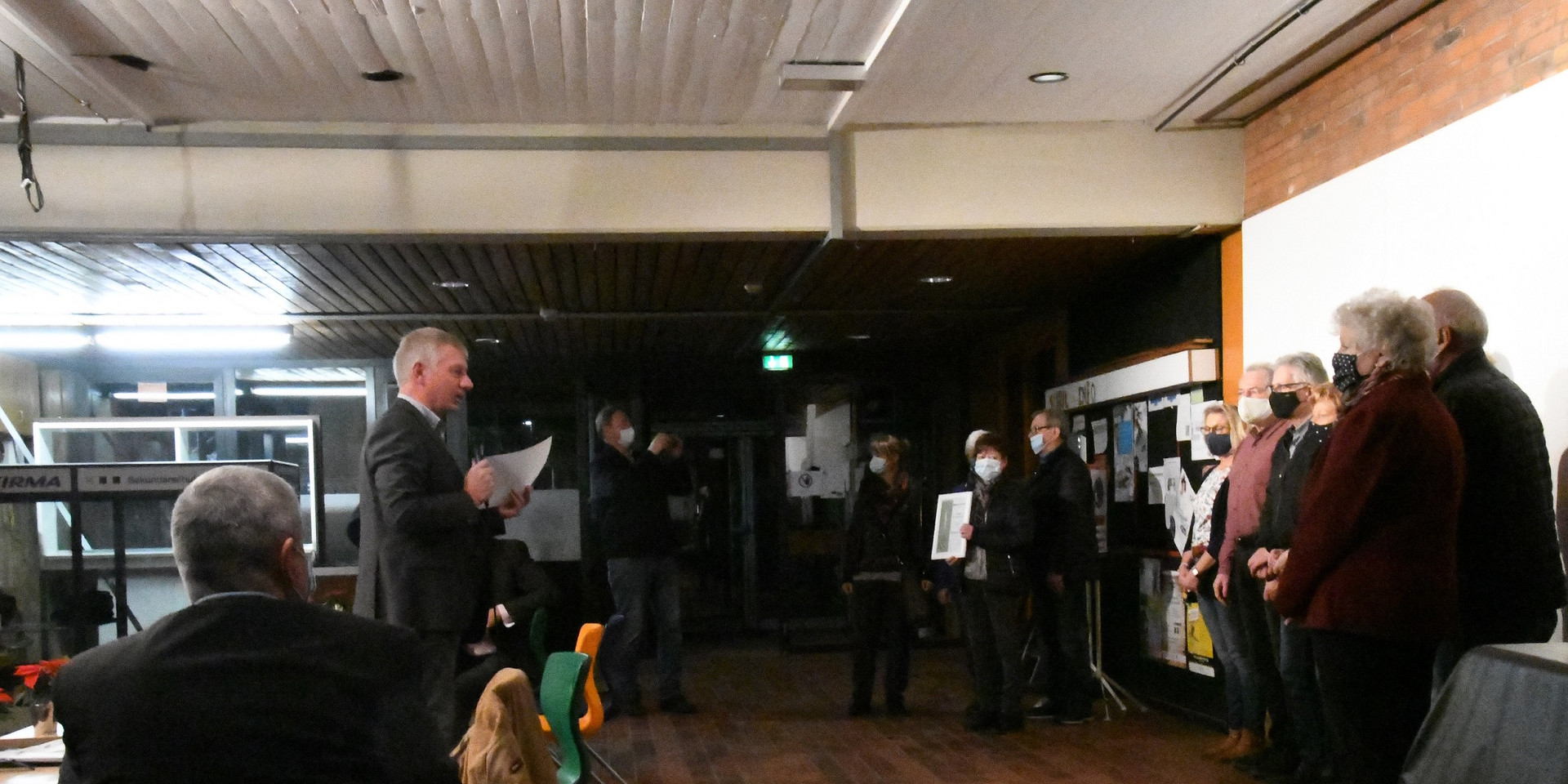 Begrüßung durch den neuen Bürgermeister Frank Meier