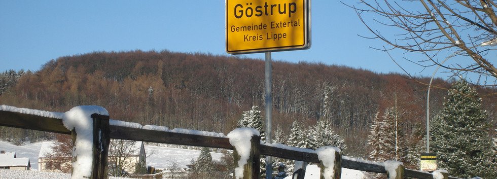 Göstrup im Winter