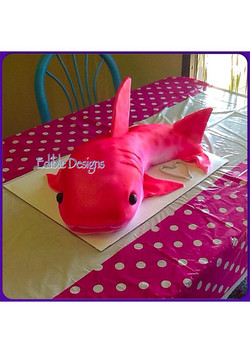 pink shark for a man baby shower