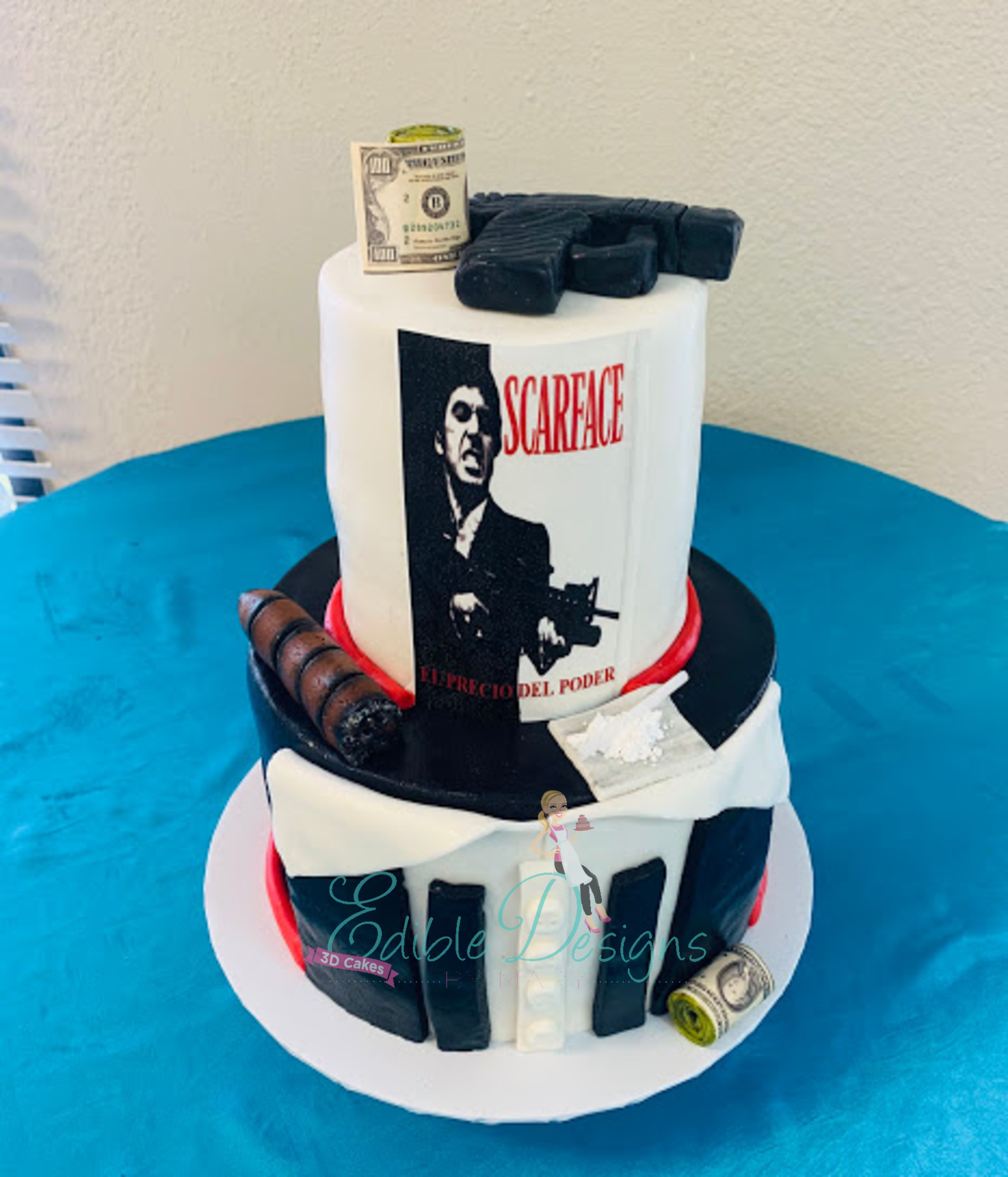 Scarface 2 tied cake