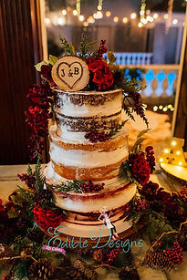 Naked cake with layers of flavor and colors