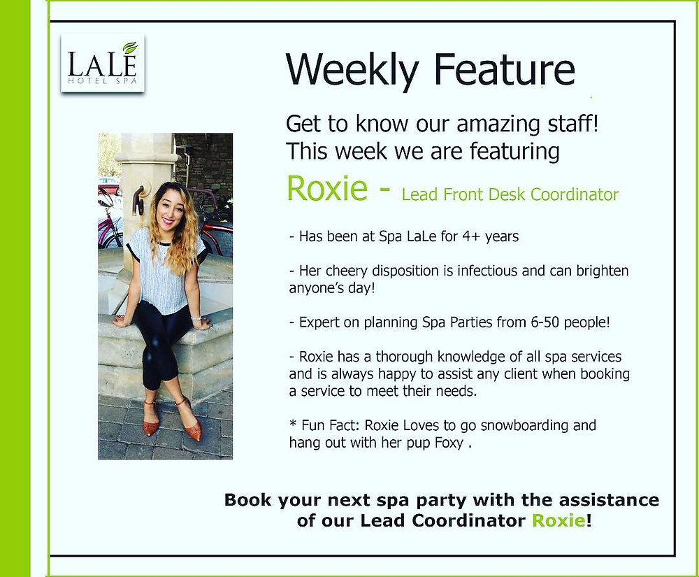 Weekly Spa Feature