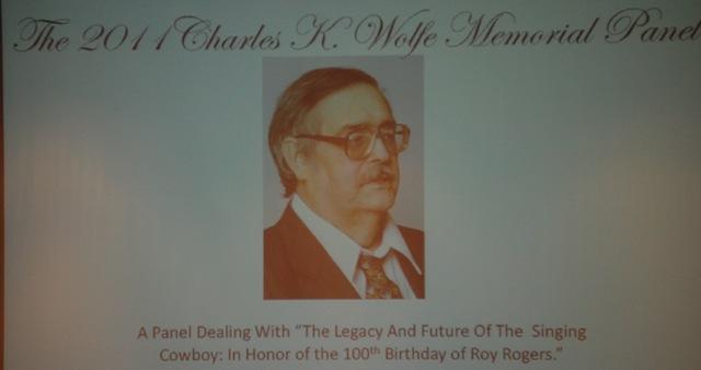 19-Charles K. Wolfe Memorial Panel Singing Cowboy