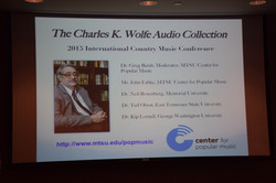 53 Charles Wolfe Collection Panel Organized by CPM