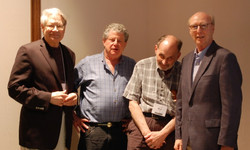 James Akenson and Don Cusic Flank Keynoters Si Kahn and Ron Cohen