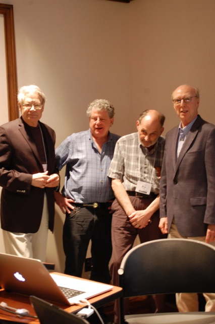 L to R James Akenson, Si Kahn, Ron Cohen, Don Cusic
