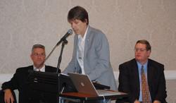 36 Hank Williams Keynote Event Troika L-R Patrick Huber, Dave Anderson, Steve Goodson