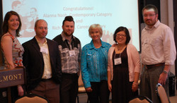 L To R Kate Hieidemann, Eric Hermann, Nate Gibson Roni Stoneman, Nancy  Riley, Paul Killinger JPG