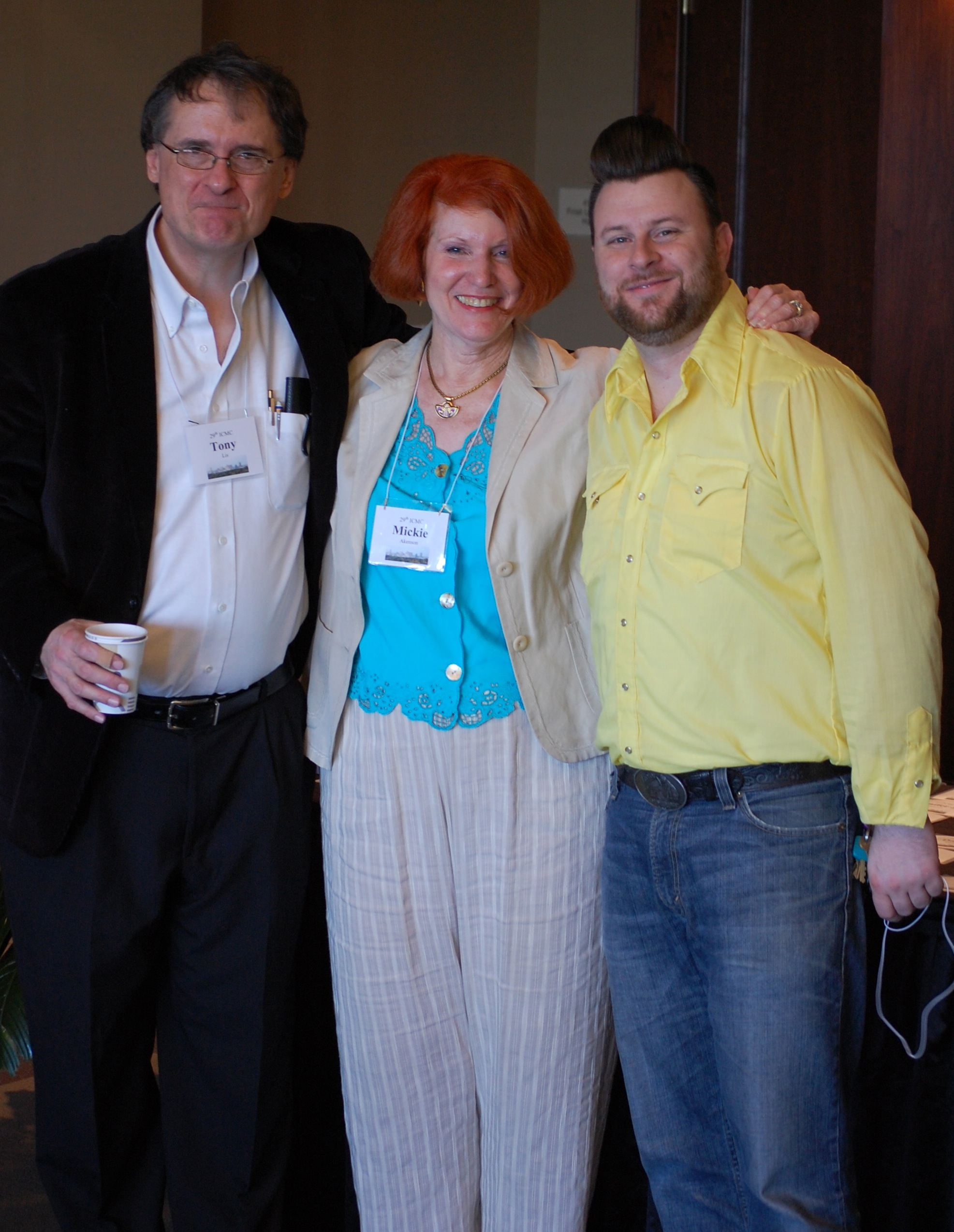 L to R Tony Lis, Mickie Akenson, Nate Gibson ICMC 2012