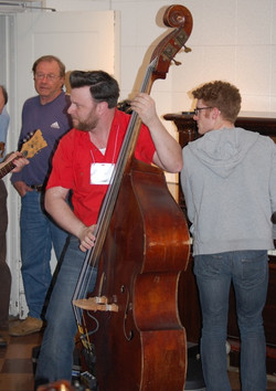 04-Nate Gibson On Bass. John Budding on Piano in Studio B