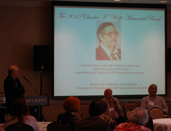 ICMC 2012 Charles K. Wolfe Memorial Panel L to R Dn Cusic, Ray White, Packy Smith