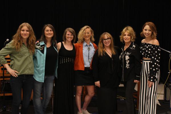 Alex Kline, Erin Enderlin, Jada Watson, Jewly Hight, Gretchen Peters, Jeannie Seely, Kalie Shorr panel Columbia A Studio