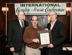 L2R James Akenson Honoree Barry Mazor, Don Cusic