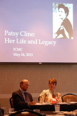 28 John Rumble and Jocelyn Neal. Patsy Cline. Charles K. Wolfe Memorial Panel ICMC 2013