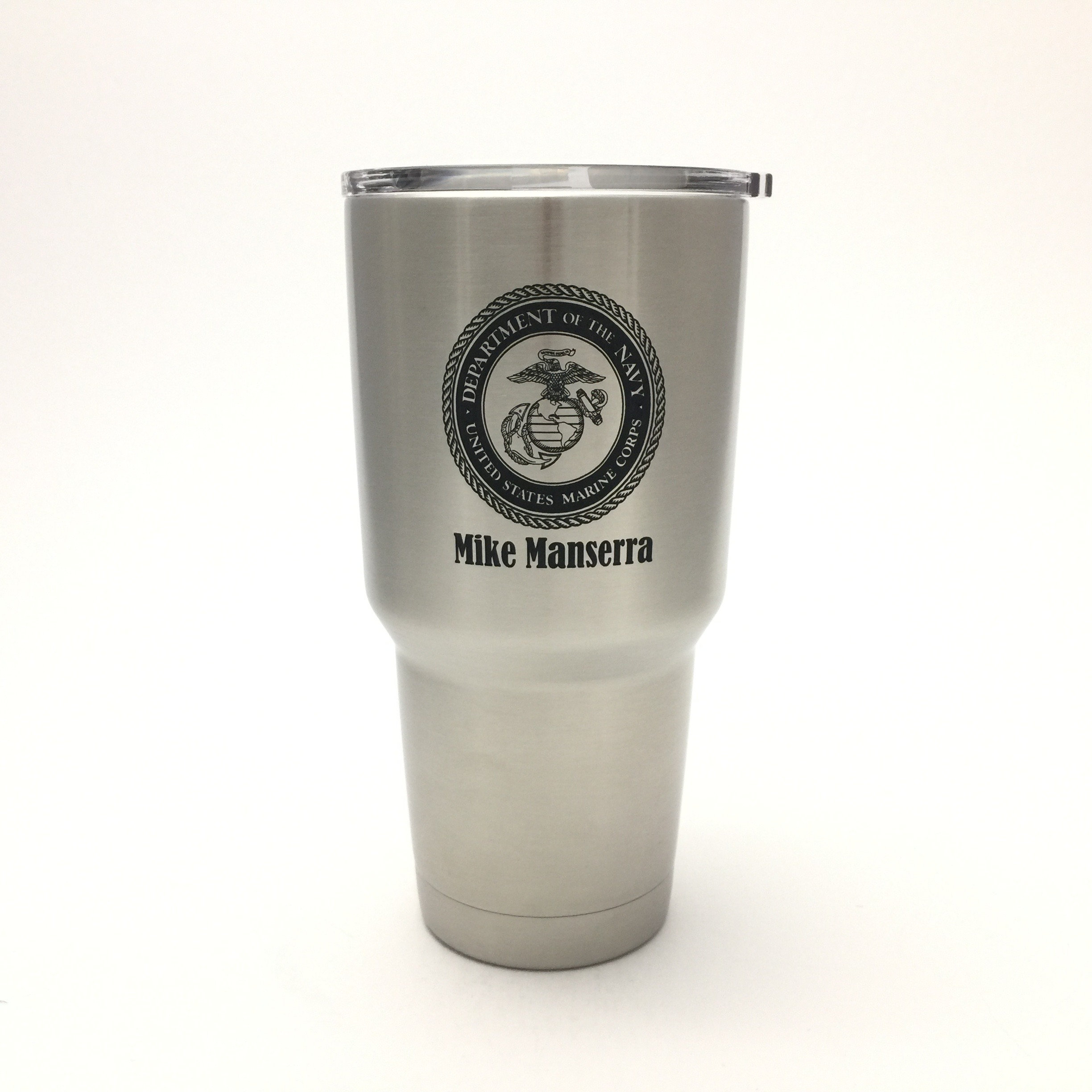 c6045e822da This listing is for custom YETI drink ware laser engraved with Marine Corps  crest and a custom personalized Name. Choose from Colster Coozie, 20 oz mug,  ...