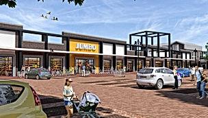 Nieuwbouw winkels en woningen Holwert Coevorden Van der Linde Architecten