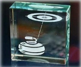 Small Crystal Block Curling Stone Design
