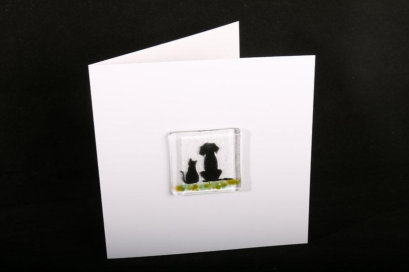 Best Friends Cat & Dog Card