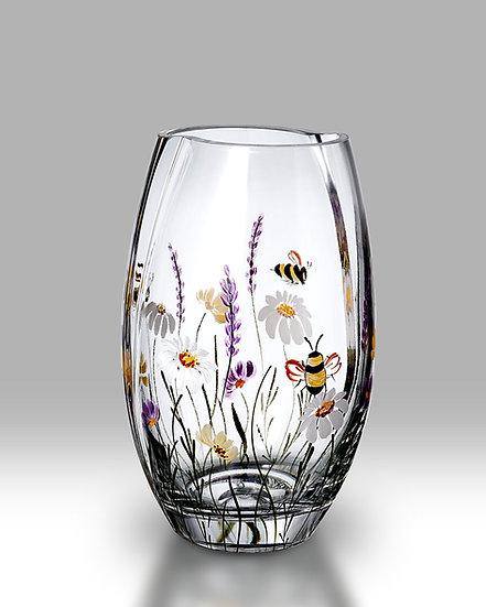 Bees & Blooms Round Vase