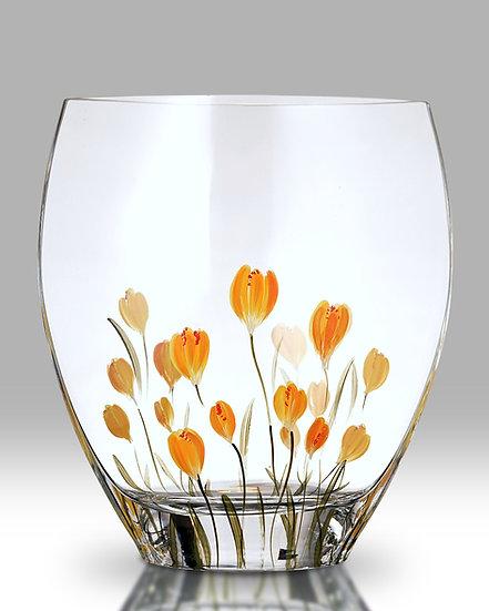 Crocus Saffron Curved Vase