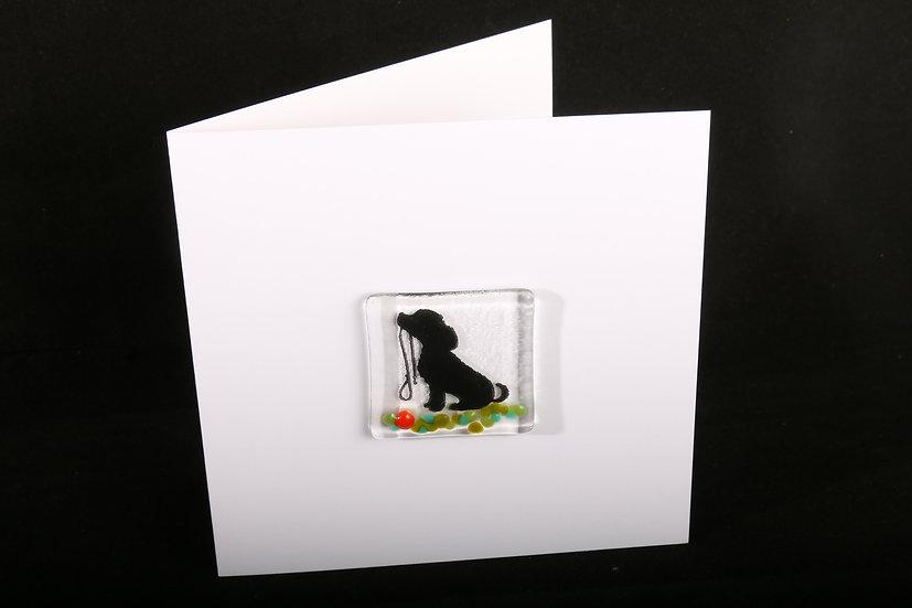 Walkies Please Dog Card