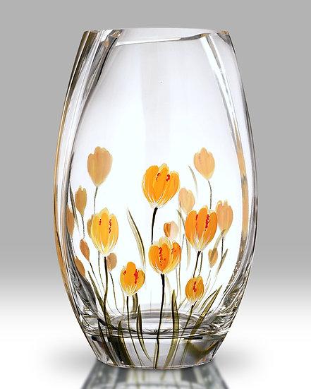 Crocus Saffron round vase