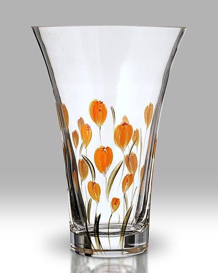 Crocus Saffron Flared Round Vase