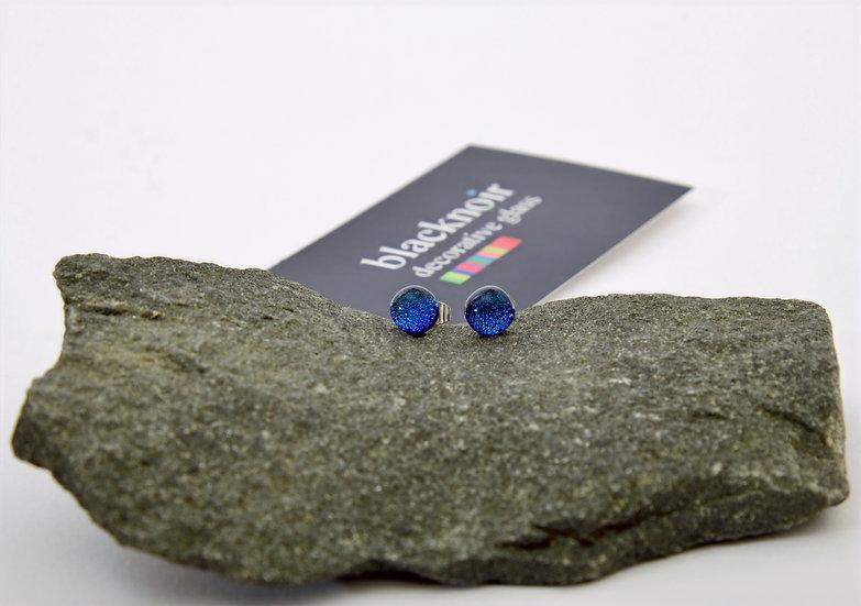 Deep Blue Stud Earrings
