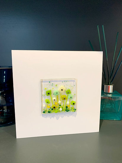 Green and cream meadow gift card