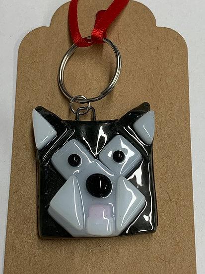 Husky Dog Keyring